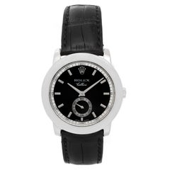 Rolex Platinum Cellinium Cellini Black Dial Automatic Wristwatch