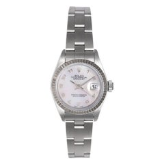 Rolex Ladies Stainless Steel Datejust Roman Dial Automatic Wristwatch