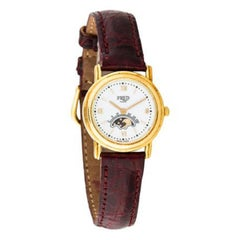 Fred of Paris Ladies Yellow Gold White Dial Quartz Wristwatch