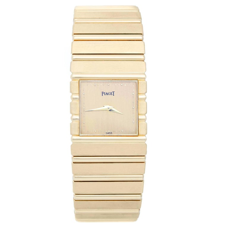 Piaget Yellow Gold Polo Quartz Wristwatch