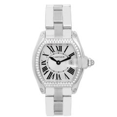Cartier Ladies White Gold Diamond Roadster Quartz Wristwatch Ref WE5002X2
