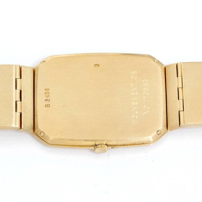 Men's Audemars Piguet Yellow Gold Black dial Vintage Manual Wristwatch For Sale