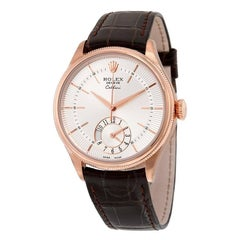 Rolex Rose Gold Cellini Dual Time Mechanical Wristwatch