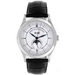 Patek Philippe white gold Annual Calendar with Moon Phase Automatic Wristwatch