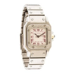 Cartier Ladies Platinum Santos Galbee Automatic Wristwatch