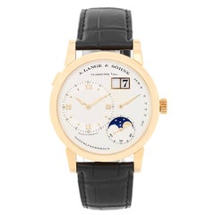 A. Lange & Sohne Yellow Gold Lange 1 Moonphase Mechanical Wristwatch