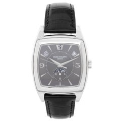 Patek Philippe White Gold Gondolo Calendario Complicated Automatic Wristwatch