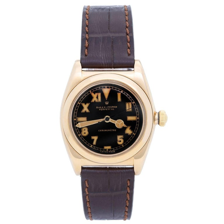 Rolex Yellow Gold Vintage Oyster Perpetual Bubbleback Automatic wristwatch