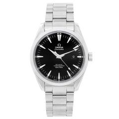 Omega Stainless Steel Seamaster Aqua Terra Black Dial Automatic Wristwatch