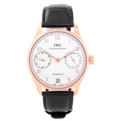 IWC Portuguese Rose Gold 7 Day Power Reserve Automatic Wristwatch
