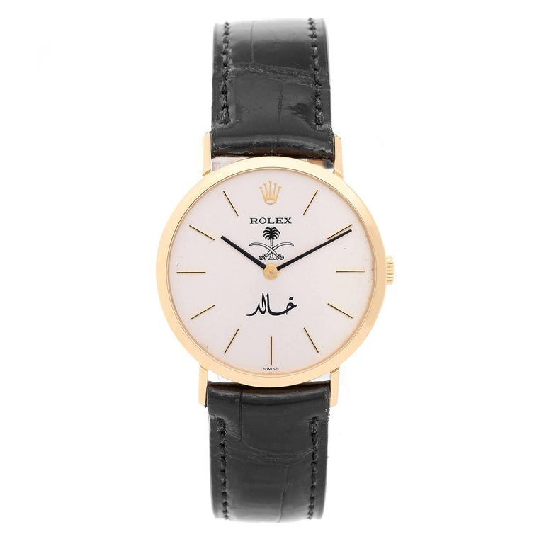 Rolex Yellow Gold Cellini Classic Manual Wristwatch
