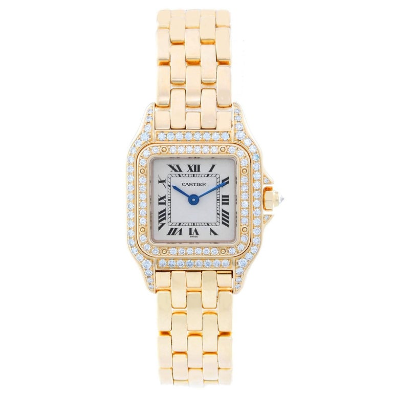 Cartier Ladies Yellow Gold Small Panther Quartz Wristwatch