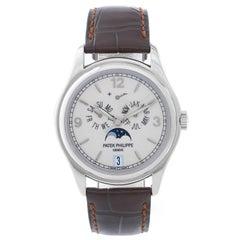 Patek Philippe White Gold Annual Calendar Automatic Wristwatch Ref 5146G
