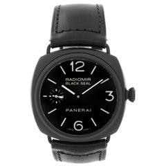 Panerai Stainless Steel Radiomir Black Seal Ceramic Manual Wristwatch