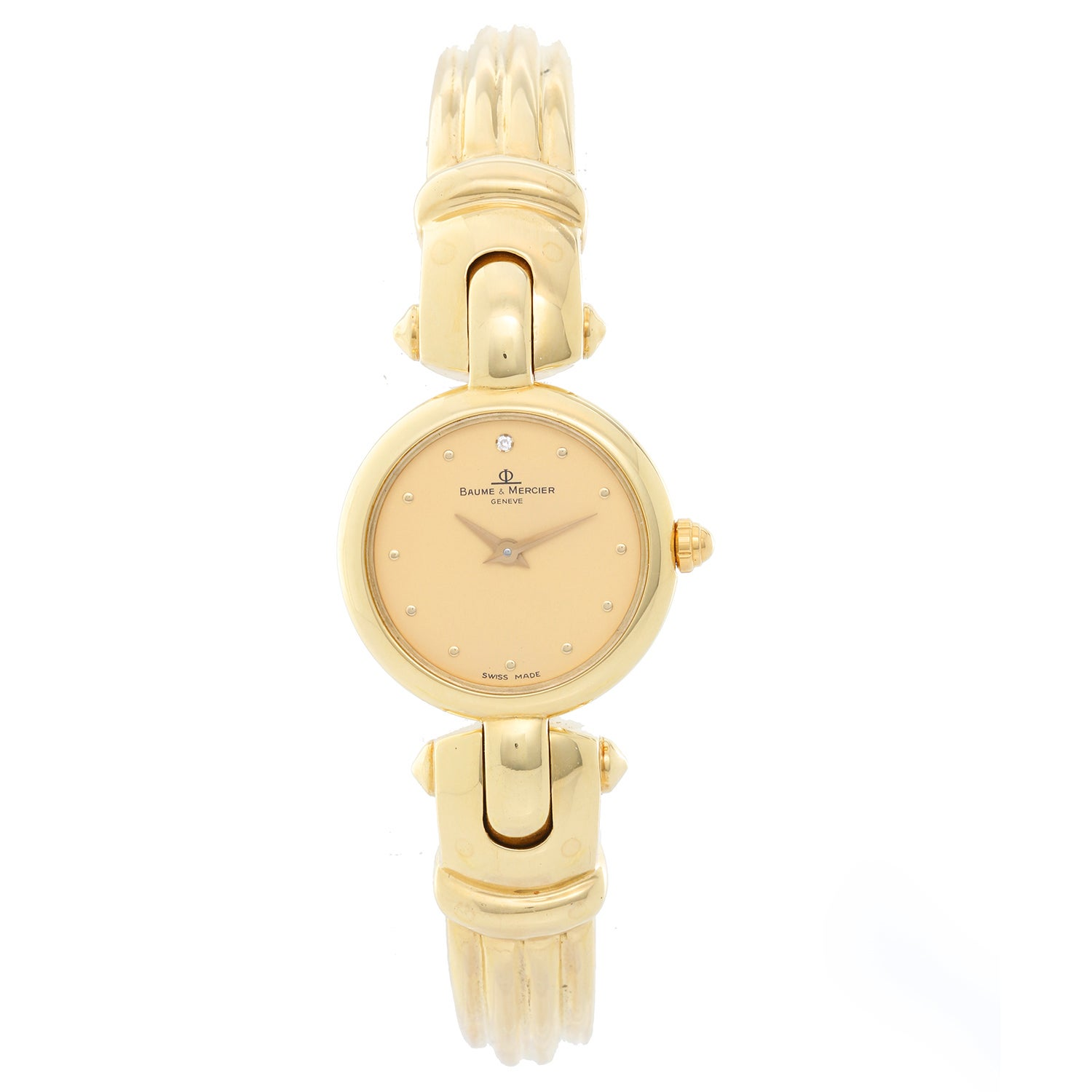 ca3657e399b Baume and Mercier Ladies Yellow Gold Vintage Quartz Wristwatch at 1stdibs