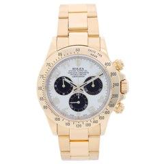 Rolex yellow gold Cosmograph Daytona Panda Automatic Wristwatch Ref 116528