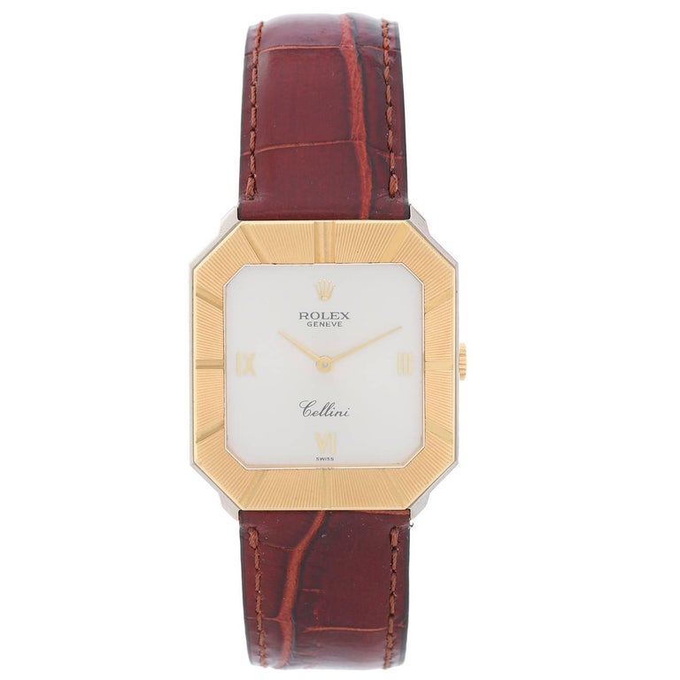 Rolex Yellow and White Gold Cellini Manual Wristwatch Ref 4150