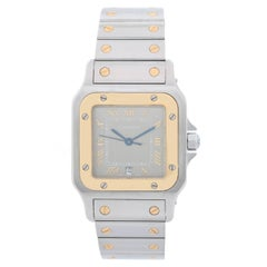 Cartier Yellow Gold Stainless Steel Santos Quartz Wristwatch Ref W20011C4