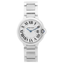 Cartier Stainless Steel Ballon Bleu Midsize Quartz Wristwatch