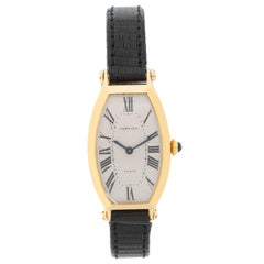 Cartier Ladies Yellow Gold Tonneau Manual Wristwatch