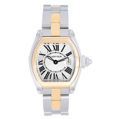 Cartier Ladies Yellow Gold Stainless Steel Roadster Small Quartz Wristwatch