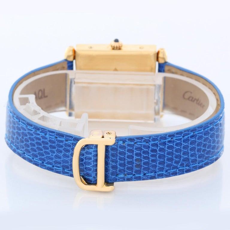 Cartier Ladies Yellow Gold Quadrant Quartz Wristwatch In Excellent Condition For Sale In Dallas, TX