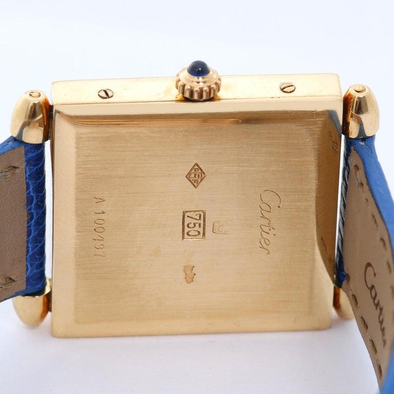 Women's Cartier Ladies Yellow Gold Quadrant Quartz Wristwatch For Sale