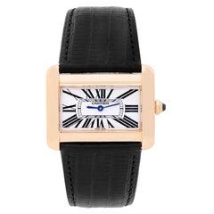 Cartier Yellow Gold Tank Divan Quartz Wristwatch Ref W6300556