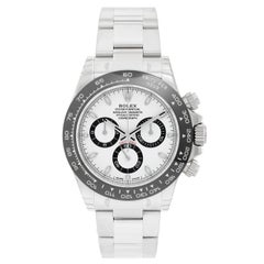 Rolex Ceramic White Dial Cosmograph Daytona Automatic Wristwatch Ref 116500LN