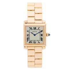 Cartier Yellow Gold Tank Obus Quartz Wristwatch