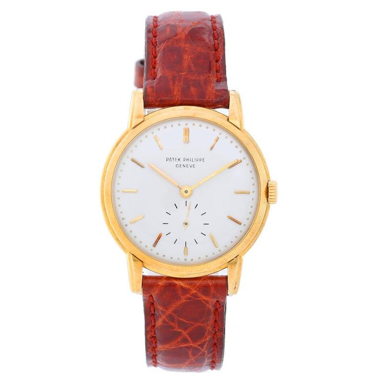 Patek Philippe Yellow Gold Calatrava Manual Wristwatch Ref 2484 J