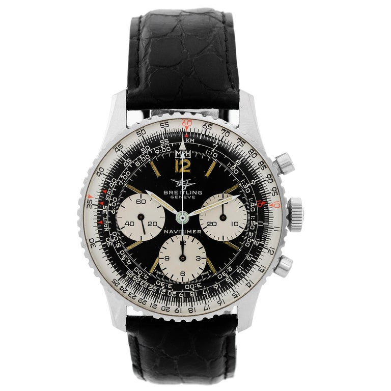 Breitling Stainless Steel Navitimer Chronograph Manual Wristwatch Ref 806