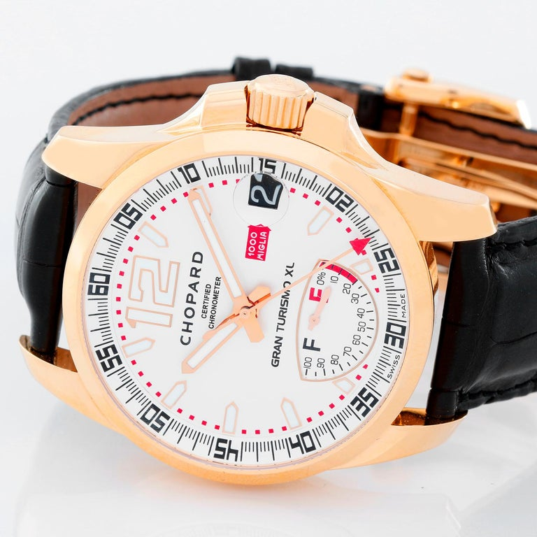 Chopard Rose gold Gran Turismo XL Automatic Wristwatch Ref 161272-5001 In Excellent Condition For Sale In Dallas, TX