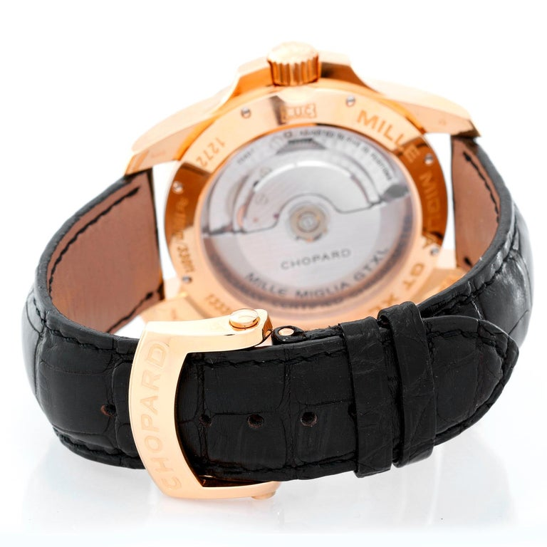 Men's Chopard Rose gold Gran Turismo XL Automatic Wristwatch Ref 161272-5001 For Sale