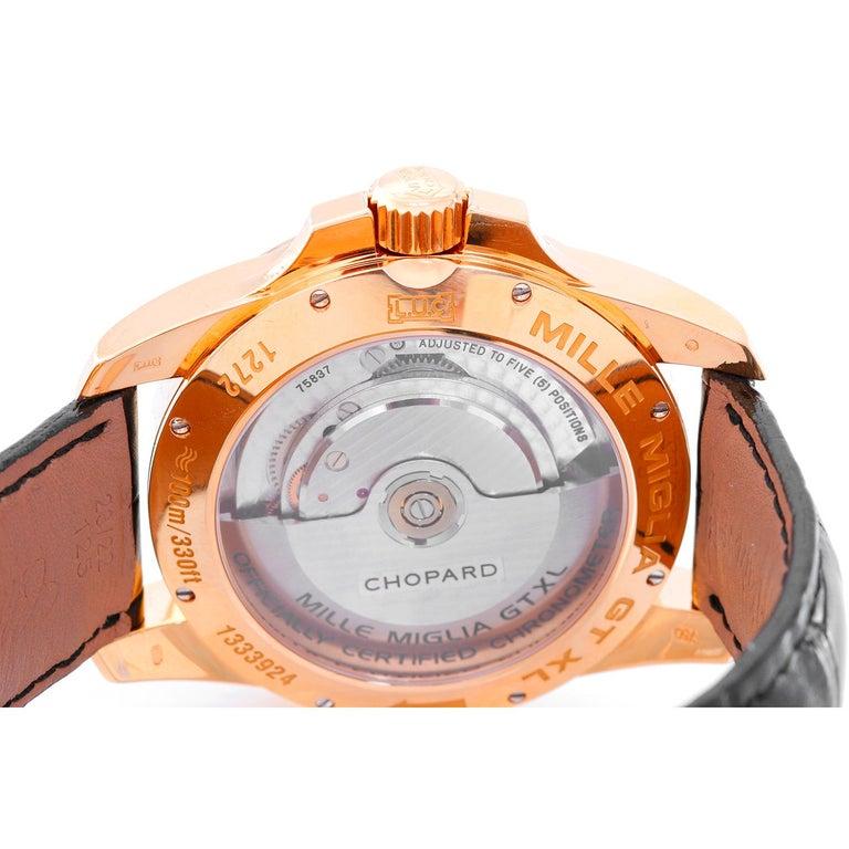 Chopard Rose gold Gran Turismo XL Automatic Wristwatch Ref 161272-5001 For Sale 1