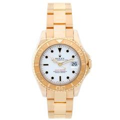 Rolex Yellow Gold Yacht-Master Midsize Automatic Wristwatch Ref 68628