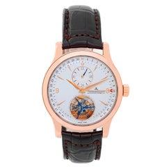 Jaeger-LeCoultre Rose gold Master Tourbillon Automatic Wristwatch, circa 2014