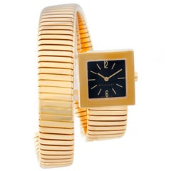Bulgari Yellow Gold Solotempo Tubogas Quartz Wristwatch Ref SQ221T