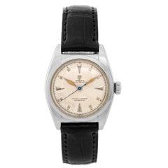 Rolex Stainless Steel Vintage Bubbleback Automatic Wristwatch Ref 6050