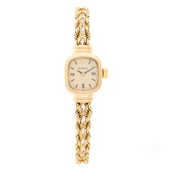 Rolex Ladies Yellow Gold champagne dial Manual Wristwatch