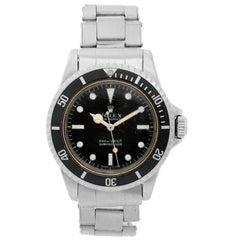 Rolex Stainless Steel Submariner Vintage Automatic Wristwatch Ref 5513