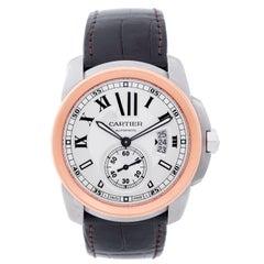 Cartier Rose Gold Steel Calibre de Cartier Large Automatic Wristwatch