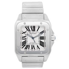 Cartier Stainless steel Santos 100 Automatic Wristwatch