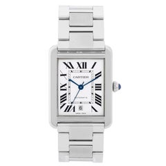 Cartier Stainless Steel Extra Large Tank Solo Automatic Wristwatch