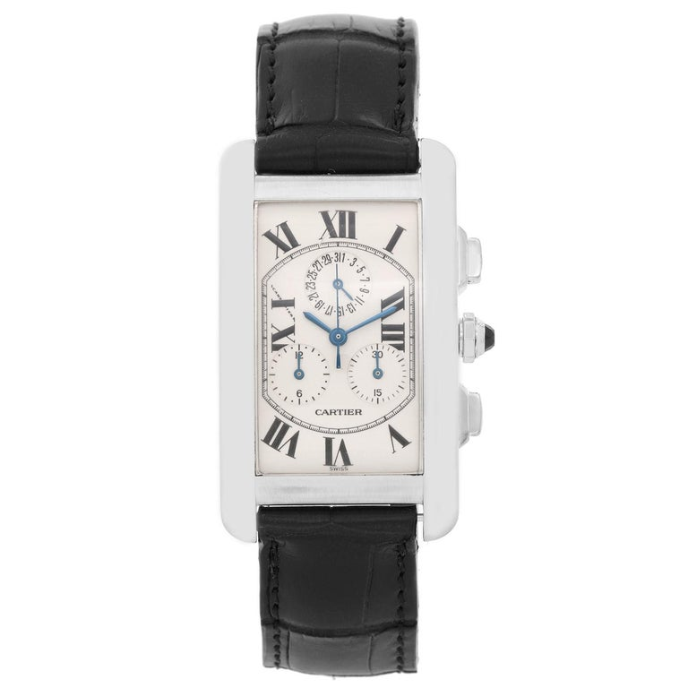Cartier Tank Americaine 'or American' Chronograph Men's Watch W2603356 For Sale