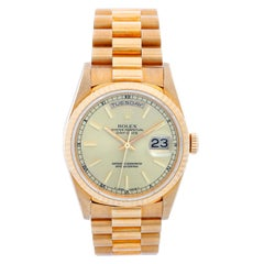 Men's Rolex President Day-Date 18 Karat Yellow Gold Champagne Dial 18238