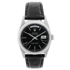 Rolex President Day-Date Men's Black Dial Watch 18239