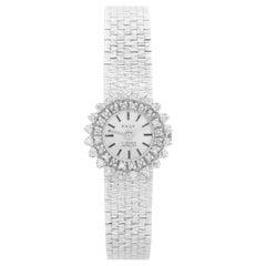 Vintage Ladies 18 Karat White Gold and Diamond Pagy Watch