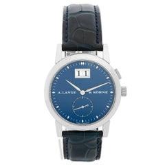 Lange & Sohne Saxonia 18 Karat White Gold Ref. 105.027 Watch