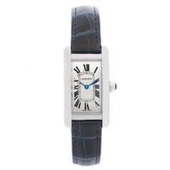 Cartier Stainless Steel Tank Americaine Watch